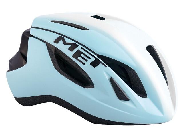 MET Strale casco per bici blu/bianco
